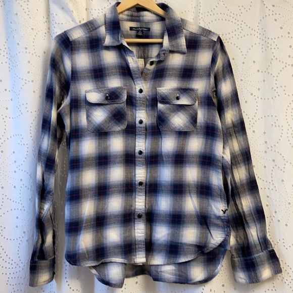 American Eagle Size Small Soft Flannel Shirt